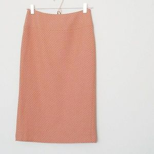 J. Crew Orange Pencil Skirt
